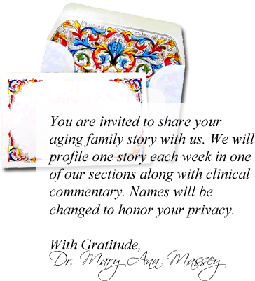 An invitation to share your aging family story.